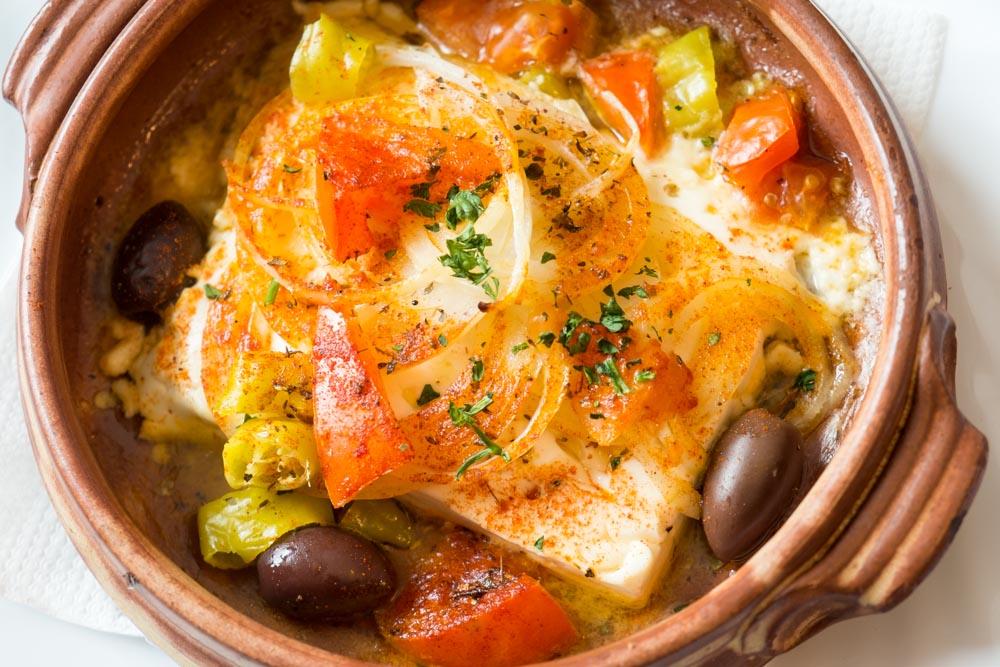 Feta Saganaki aus dem Ofen im griechischen Restauraunt Mykonos am Faaker See
