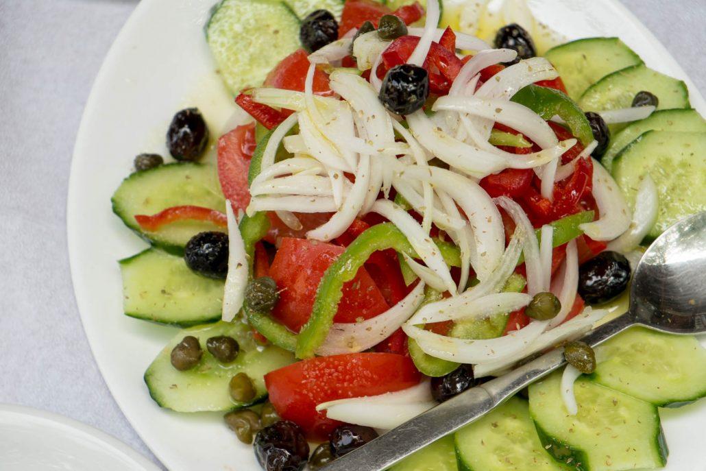 Salat im griechischen Restauraunt Mykonos am Faaker See