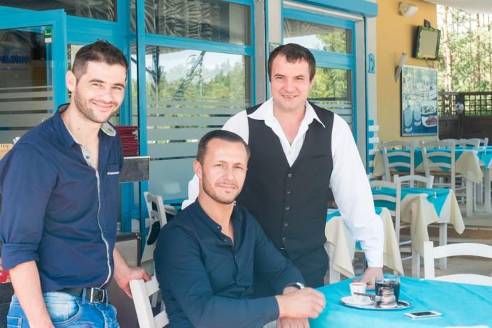 3 Männer, das Personal vom Restaurant Mykonos am Faakersee